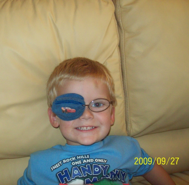 the best eye patch for kids worn by Billy
