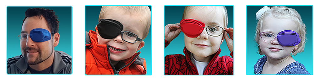 the best eye patch for kids worn by Framehuggers Eye patches For Glasses