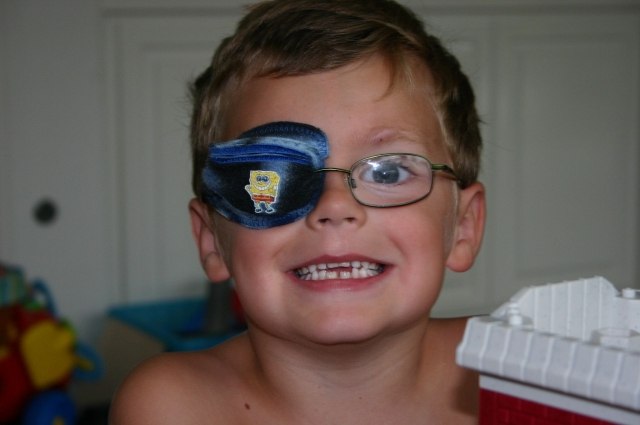 the best eye patch for kids worn by Lance