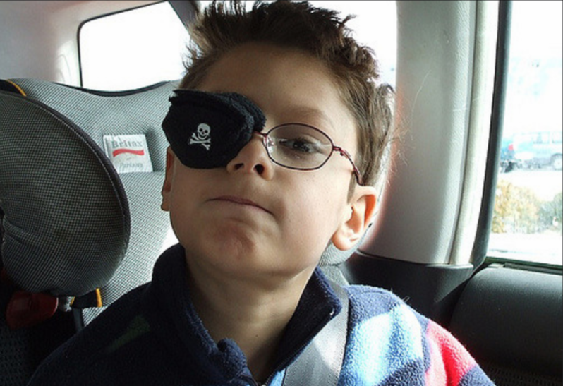 Private eye patch for kids glasses
