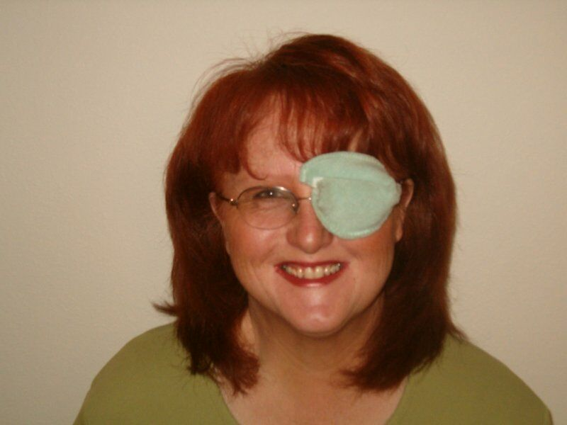 the best eye patch for adults worn by Colleen