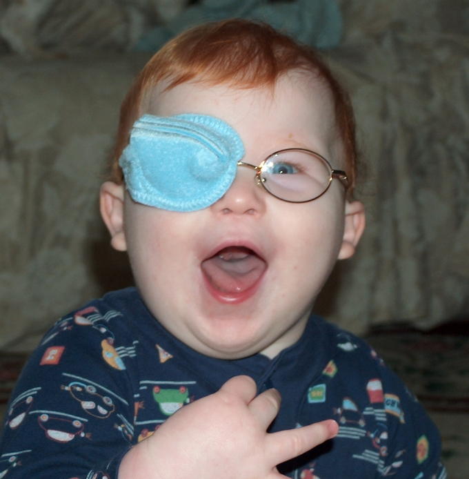 the best eye patch for kids worn by Connor