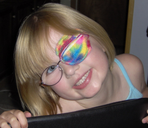 the best eye patch for kids worn by Heather