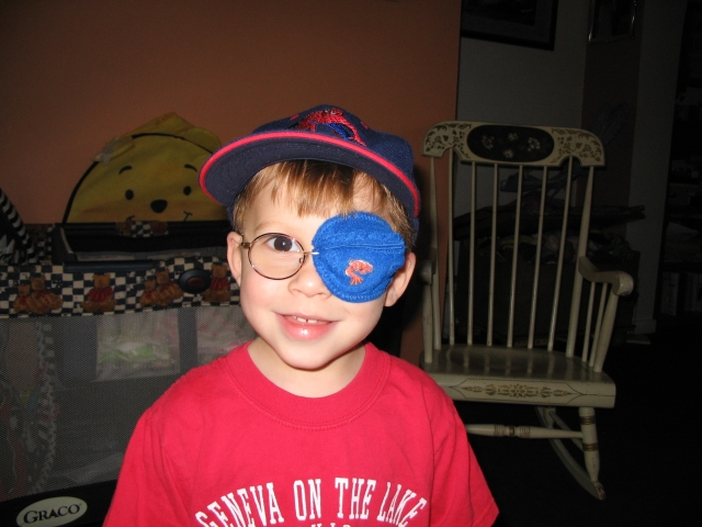 the best eye patch for kids worn by Jamie