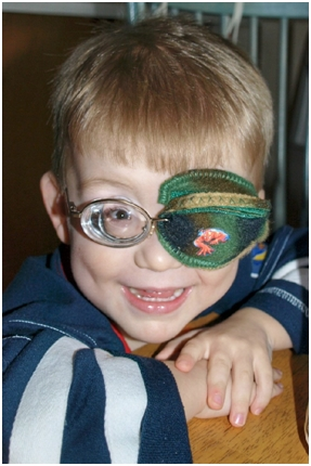 the best eye patch for kids worn by JR