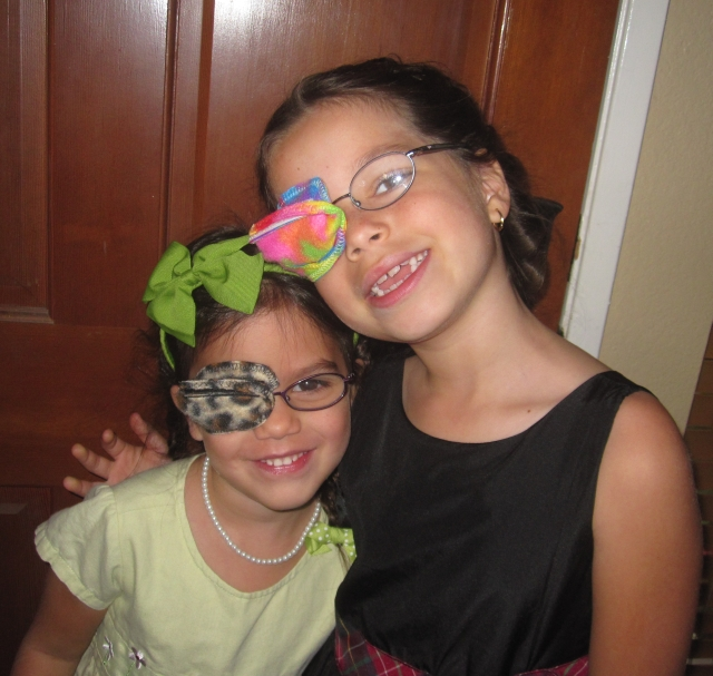 the best eye patch for kids worn by Madera Sisters