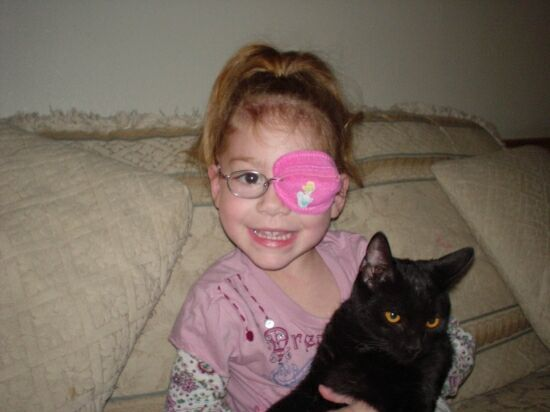 the best eye patch for kids worn by Maryana