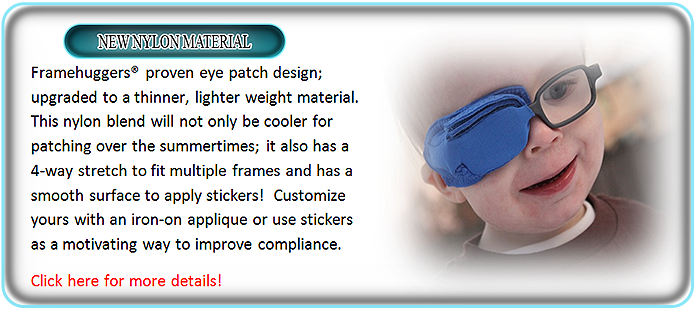Framehuggers nylon blend eye patches