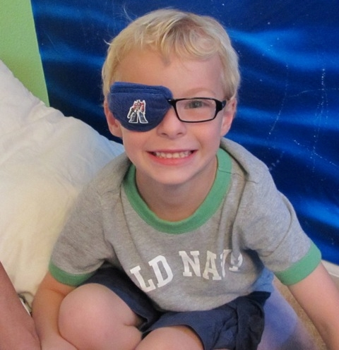 the best eye patch for kids worn by Noah