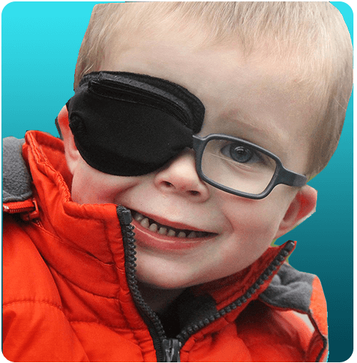 Children's eye patches for glasses